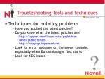 troubleshooting tools and techniques2