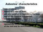 asbestos characteristics