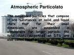 atmospheric particolato