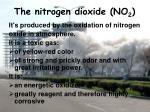 the nitrogen dioxide no 2