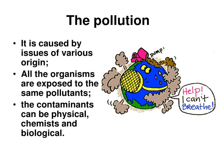 the pollution n.