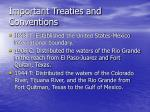 important treaties and conventions