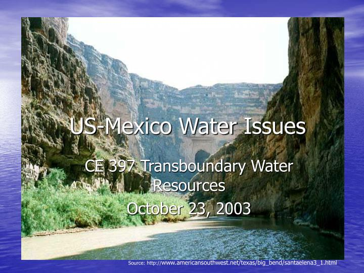 us mexico water issues n.