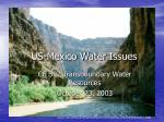 us mexico water issues