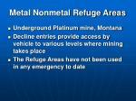 metal nonmetal refuge areas