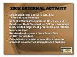 2002 external activity