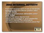 2002 internal activity