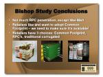 bishop study conclusions