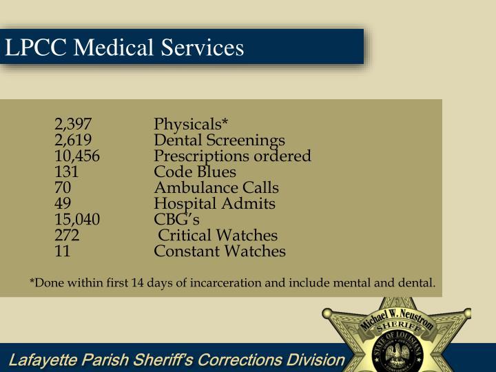 LPCC Medical Services