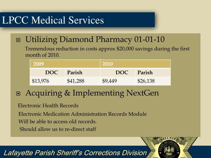 Utilizing Diamond Pharmacy 01-01-10