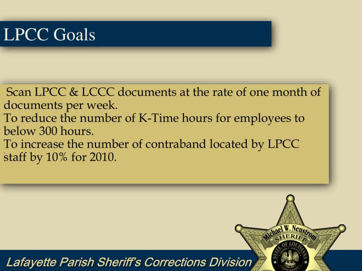 LPCC Goals