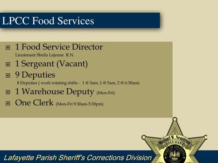 1 Food Service Director