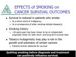 effects of smoking on cancer survival outcomes
