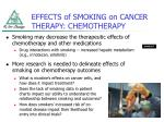 effects of smoking on cancer therapy chemotherapy