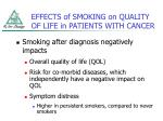 effects of smoking on quality of life in patients with cancer