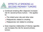 effects of smoking on second primary tumors