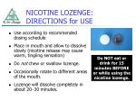 nicotine lozenge directions for use