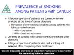 prevalence of smoking among patients with cancer