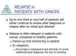 relapse in patients with cancer