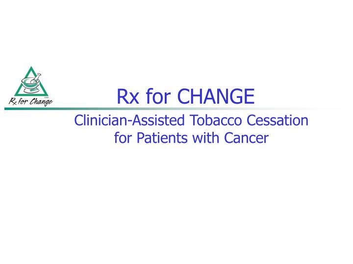 rx for change n.