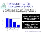 smoking cessation reduced risk of death