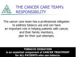 the cancer care team s responsibility