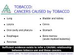 tobacco cancers caused by tobacco