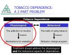 tobacco dependence a 2 part problem
