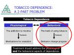 tobacco dependence a 2 part problem1
