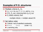 examples of p o structures