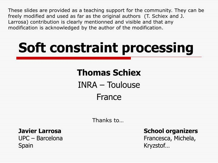 soft constraint processing n.