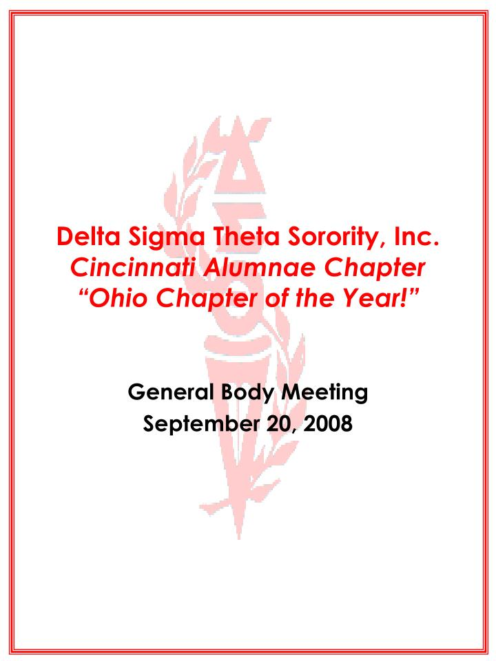 delta sigma theta sorority inc cincinnati alumnae chapter ohio chapter of the year n.