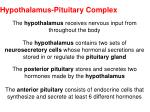 hypothalamus pituitary complex