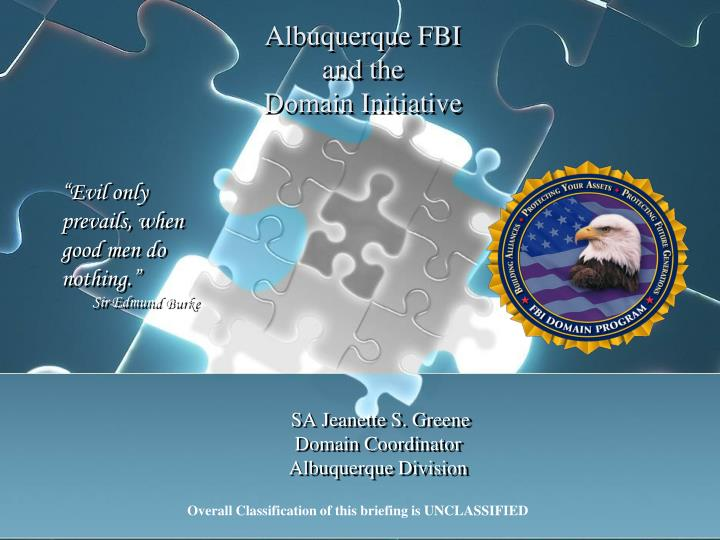 albuquerque fbi and the domain initiative n.