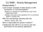 cu wme activity management