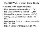the cu wme design case study3