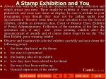 a stamp exhibition and you1