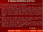 a stamp exhibition and you2