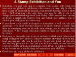 a stamp exhibition and you3