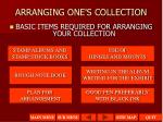 arranging one s collection