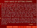 easy ways of getting stamps