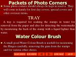 packets of photo corners