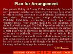plan for arrangement