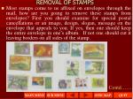 removal of stamps