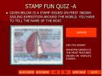 stamp fun quiz a