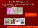 stamp fun quiz c