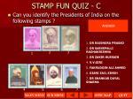 stamp fun quiz c1