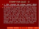 stamp fun quiz d