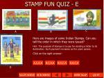 stamp fun quiz e