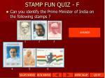 stamp fun quiz f